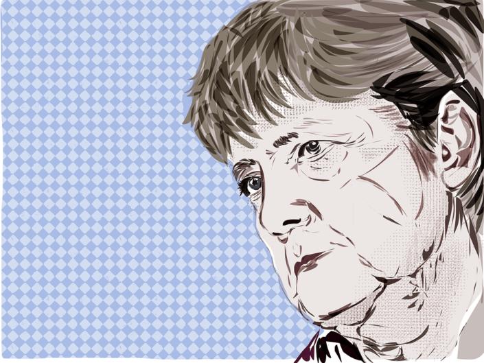 Angela Merkel im Pflegeheim